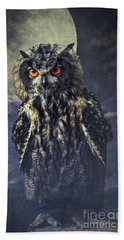 Eagle Owl Hand Towel