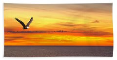 Eagle Panorama Sunset Hand Towel