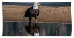 Eagle Reflection  Bath Towel