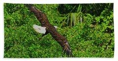 Hand Towel featuring the photograph Eagle Series Flight by Deborah Benoit