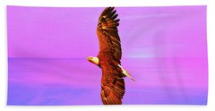 Hand Towel featuring the painting Eagle Series Painterly by Deborah Benoit