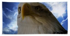 Eagle Bath Towel by Sherman Perry