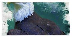 Eagle Bath Towel by Suzanne Handel