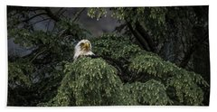 Bath Towel featuring the photograph Eagle Tree by Timothy Latta
