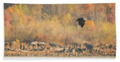 Eagle With Fish And Foliage Hand Towel by Jeff at JSJ Photography