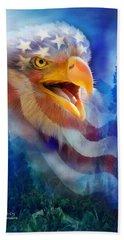Eagle's Cry Hand Towel by Carol Cavalaris