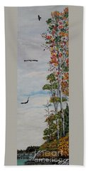 Bath Towel featuring the painting Eagles Point by Marilyn  McNish