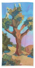 Hand Towel featuring the painting Early Bloom Joshua by Diane McClary