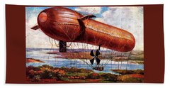 Early 1900s Military Airship Hand Towel by Peter Gumaer Ogden