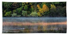 Early Autumn Morning At Longfellow Pond Bath Towel