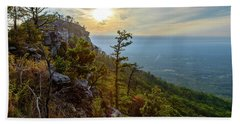 Early Autumn On Pilot Mountain Bath Towel
