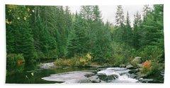 Early Autumn On The Madawaska River Bath Towel