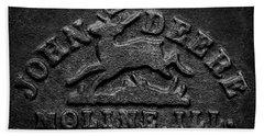 Early John Deere Emblem Hand Towel