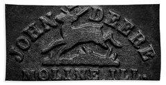 Early John Deere Emblem Bath Towel