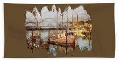 Early Light On Yaquina Bay Bath Towel