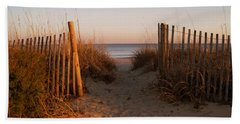 Early Morning At Myrtle Beach Sc Bath Towel by Susanne Van Hulst