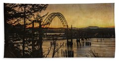 Early Morning At The Yaquina Bay Bridge  Bath Towel