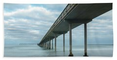 Early Morning By The Ocean Beach Pier Hand Towel