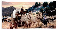 Early Morning Drive Bath Towel by Ron Chambers