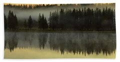 Hand Towel featuring the photograph Early Morning Foggy Reflections by James BO Insogna