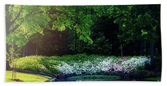 Early Morning Light At The Azalea Pond Bath Towel by Tamyra Ayles