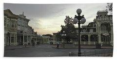 Early Morning Magic Kingdom Walt Disney World Mp Bath Towel