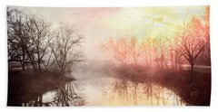 Hand Towel featuring the photograph Early Morning On The River by Debra and Dave Vanderlaan