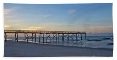 Early Morning Pier Hand Towel