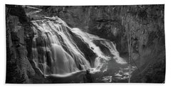 Early Morning Steam Falls Hand Towel