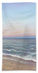 Early Morning Waves Hand Towel