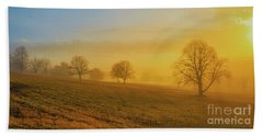 Hand Towel featuring the digital art Early Morning Winter Fog by Randy Steele