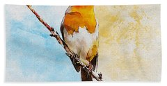 Hand Towel featuring the painting Early Spring by Greg Collins