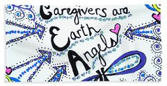 Earth Angel Bath Towel by Carole Brecht