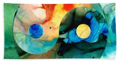 Earth Balance - Yin And Yang Art Hand Towel