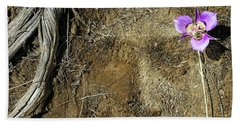 Bath Towel featuring the photograph Earth Memories-desert Flower # 1 by Ed Hall
