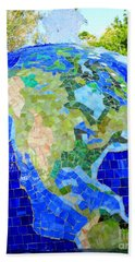 Earth Mosaic 1 Hand Towel by Randall Weidner