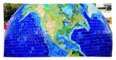 Earth Mosaic 2 Hand Towel by Randall Weidner