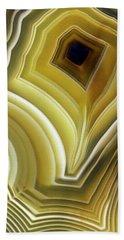 Earth Treasures - Yellow Agate Bath Towel by Jaroslaw Blaminsky