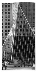 Hand Towel featuring the photograph East 42nd Street, New York City  -17663-bw by John Bald