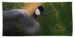 East African Crowned Crane Dp Hand Towel by Ernie Echols