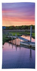 East Moriches Sunset Bath Towel