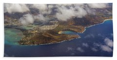 East Oahu From The Air Hand Towel
