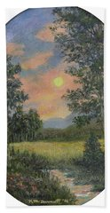 Hand Towel featuring the painting East Of Eden by Kathleen McDermott