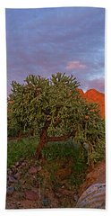 Hand Towel featuring the photograph East Of Sunset V30 by Mark Myhaver