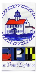 Hand Towel featuring the digital art East Point Lighthouse Poster by Nancy Patterson
