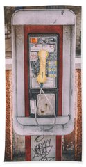 East Side Pay Phone Hand Towel