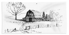 East Texas Hay Barn Bath Towel
