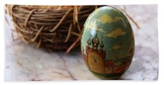 Easter Egg Russian Style Hand Towel by Yvonne Wright