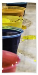Bath Towel featuring the photograph Easter Eggs by Chris Coffee