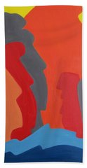 Easter Island Bath Towel by Michael  TMAD Finney AKA MTEE